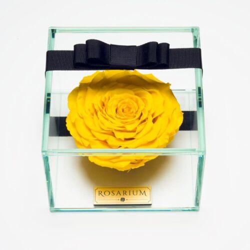 1 darabos sárga örök rózsa doboz