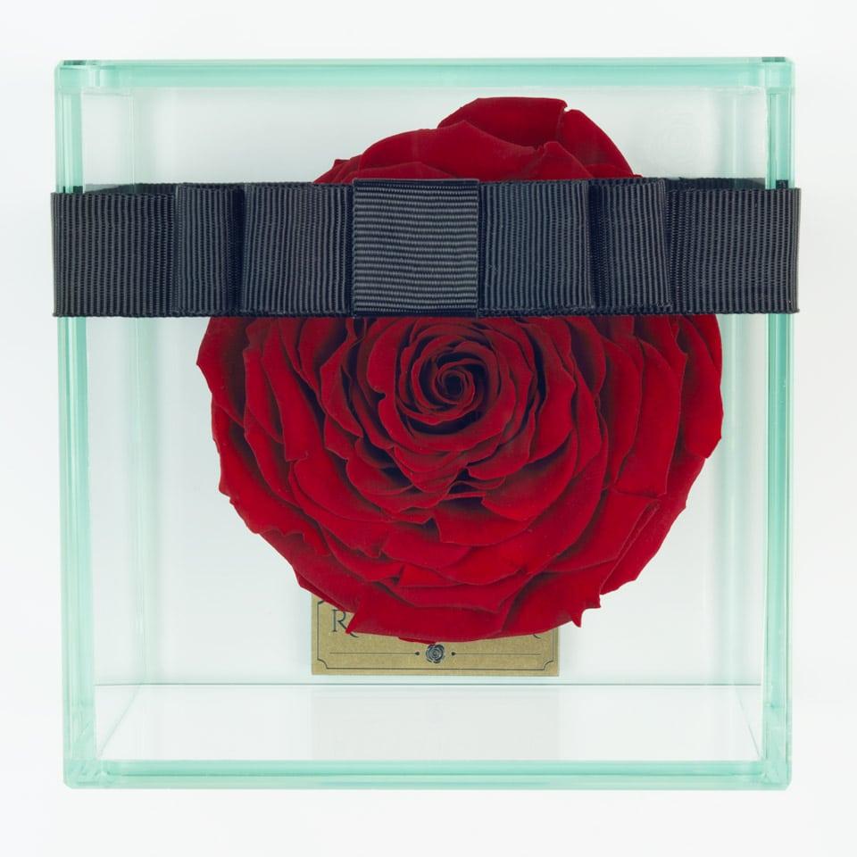 1 darabos vörös örök rózsa doboz