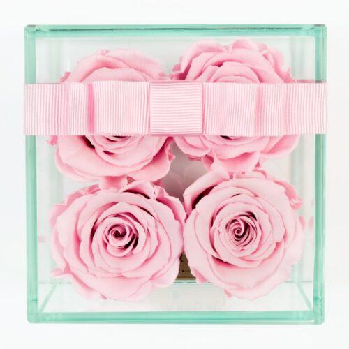 4 darabos rózsaszín örök rózsa doboz
