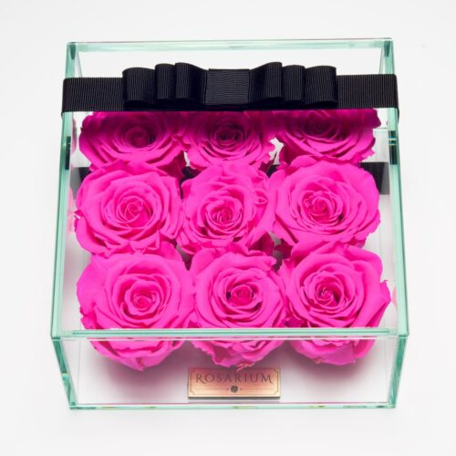 9 darabos pink örök rózsa doboz