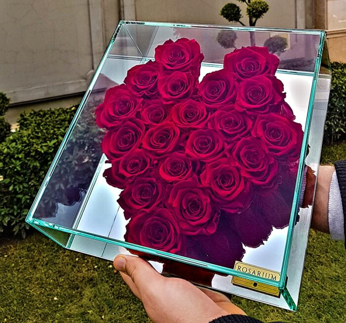 Sziv vörös örök rózsa