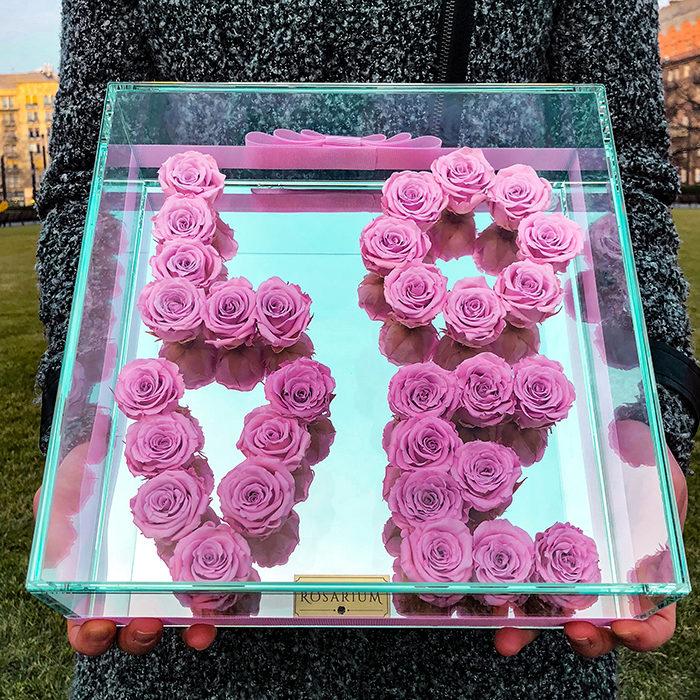 Love örök rózsa doboz