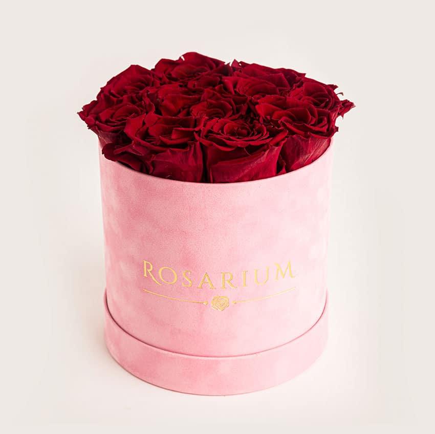 bársony doboz - örök rózsa